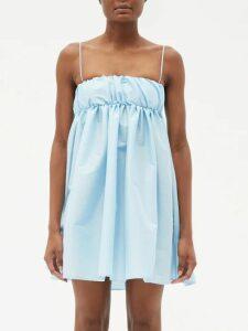 The Attico - Crystal Embellished Stretch Jersey Mini Dress - Womens - Black