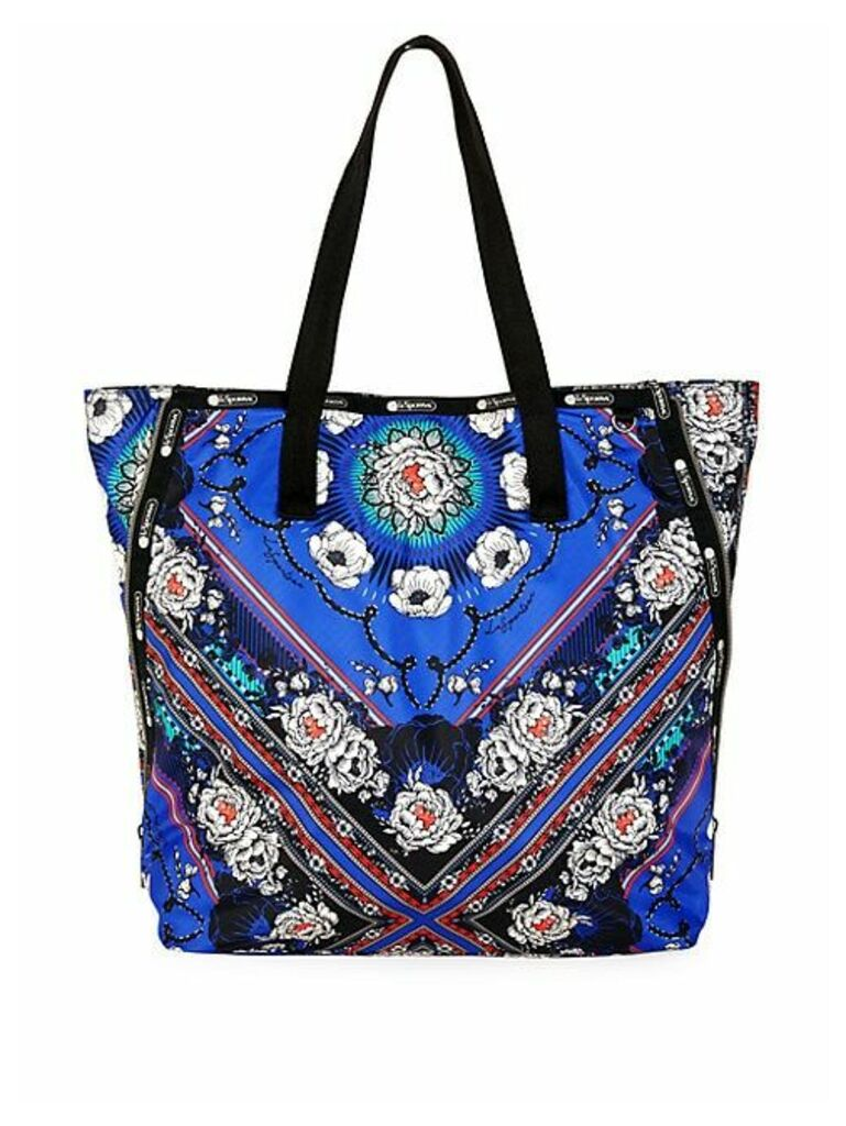 Collette Expandable Floral Print Ripstop Tote