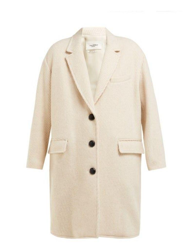 Isabel Marant Étoile - Gimi Oversized Wool Blend Tweed Coat - Womens - Ivory
