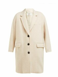 Isabel Marant Étoile - Gimi Oversized Wool Blend Tweed Coat - Womens - Ivory