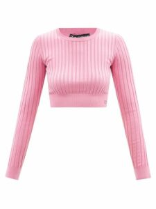 M.i.h Jeans - Audie Double Breasted Denim Trench Coat - Womens - Blue