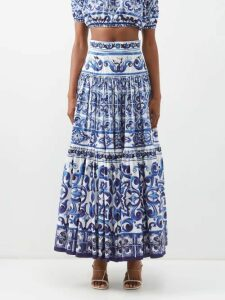 Balenciaga - Wool Blend Oversized Coat - Womens - Navy Multi