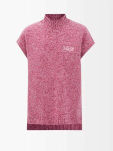 Balenciaga - Wool Blend Oversized Coat - Womens - Navy Multi
