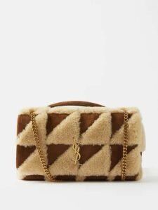 Gucci - Gg Belt Single Breasted Wool Blend Coat - Womens - Black
