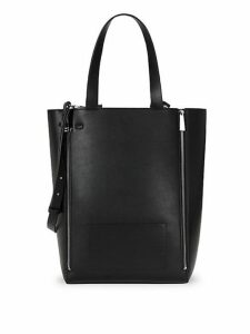 Bijou Zippered Faux-Leather Tote