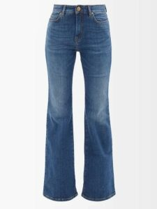 A.w.a.k.e. Mode - Button Through Sleeve Scoop Neck Top - Womens - Black
