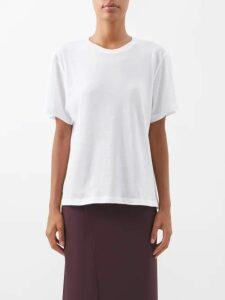 Rochas - Halterneck Floral Brocade Gown - Womens - Green Multi