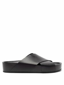 The Row - Clementine Oversized V Neck Gown - Womens - Dark Green