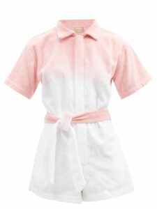 Carolina Herrera - Floral Print Strapless Silk Gown - Womens - Blue White