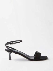 Raquel Diniz - Palm And Leopard Print Silk Crepe De Chine Gown - Womens - Green Multi