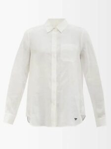Valentino - Bead Embroidered Tulle Gown - Womens - Navy Multi