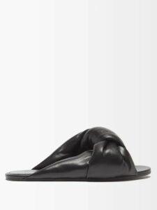 Halpern - Asymmetric Metallic Plissé Gown - Womens - Silver