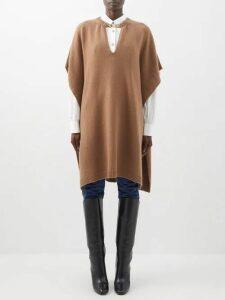 Erdem - Rowan Ruffled Ribbed Knit Jersey Dress - Womens - Blue