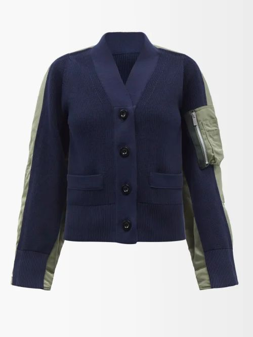 M.i.h Jeans - Ria Cotton Chambray Wrap Skirt - Womens - Dark Blue