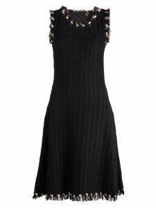 Oscar de la Renta frayed edges dress - Black