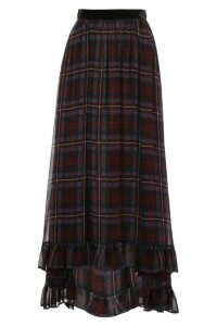 Philosophy di Lorenzo Serafini Long Tartan Skirt