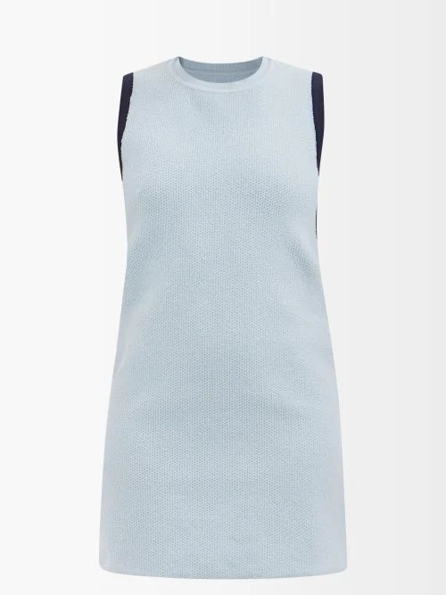 Joostricot - Striped Short Sleeved Cotton Blend Sweater - Womens - Brown Multi