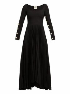 A.w.a.k.e. Mode - Pleated Jersey Dress - Womens - Black