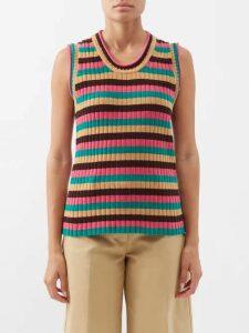Etro - Varo Paisley Print Jacquard Skirt - Womens - Red Print