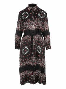 Amiri Amiri Long Sleeves Bandana Dress