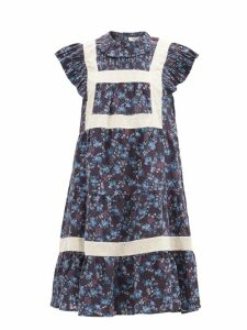 Loewe - High Rise Asymmetric Panelled Skirt - Womens - Beige Multi