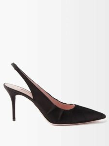 Gabriela Hearst - Elvis Striped Cashmere Blend Midi Dress - Womens - Blue Multi