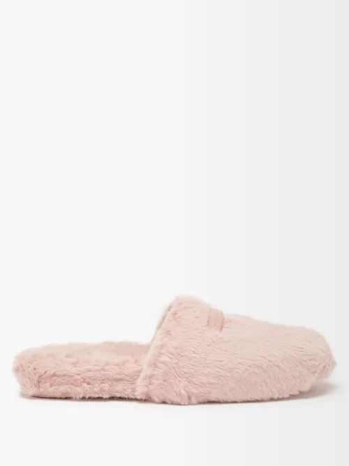 Carolina Herrera - Flocked Waterfall Panel Strapless Tulle Gown - Womens - Pink Multi