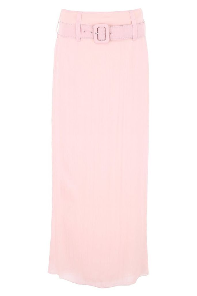 Prada Long Crepon Skirt