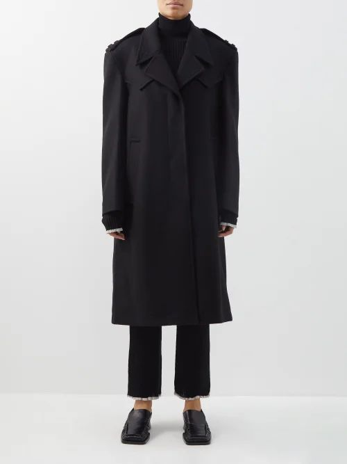 Fendi - Logo Tape Jersey Midi Skirt - Womens - Black Multi