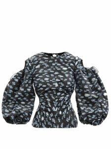Colville - Reverse Logo Print Cotton T Shirt - Womens - Black White
