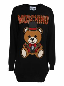 Moschino Teddy Bear Knit Sweater Dress