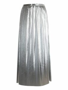 Maison Margiela Pleated Long Metallic Skirt