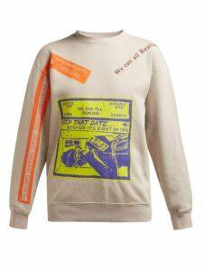 Eckhaus Latta - X Come Tees Cotton Sweatshirt - Womens - Grey Multi