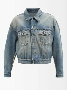 Raey - Balloon Sleeved Denim Jersey Sweatshirt - Womens - Indigo