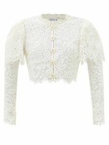 Gabriela Hearst - Sophie Checked Double Breasted Wool Blend Blazer - Womens - Blue Multi