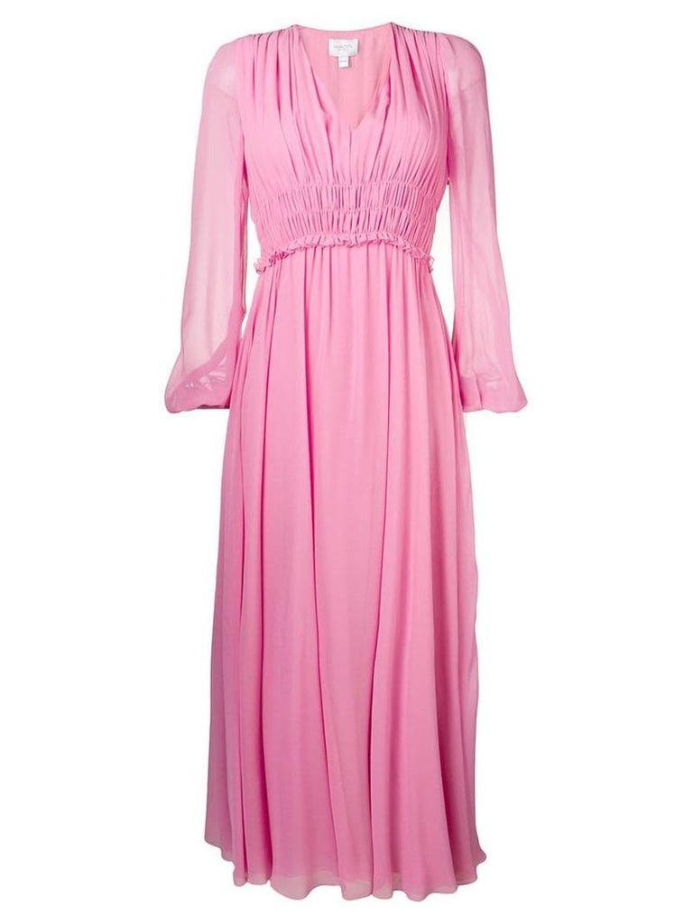 Giambattista Valli gathered detail long dress - Pink