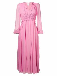 Giambattista Valli gathered detail long dress - Pink