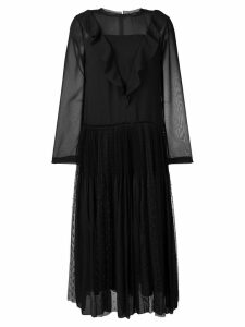 Red Valentino frill front dress - Black