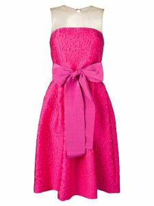 P.A.R.O.S.H. bow detail jacquard dress - Pink