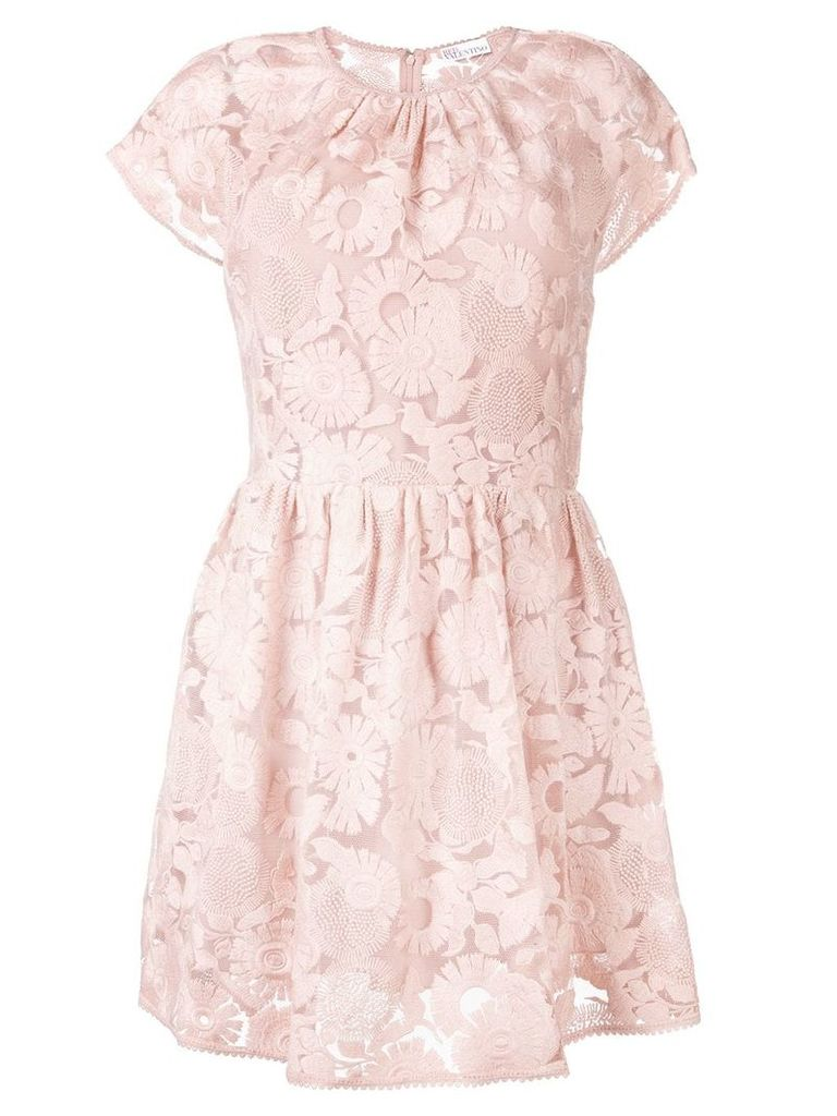Red Valentino floral lace mini dress - Pink
