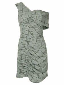 Sea Bacall plaid ruched dress - Grey