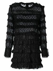 Isabel Marant ruched open panel dress - Black