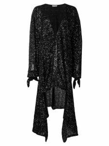 Attico sequined asymmetric dress - Black