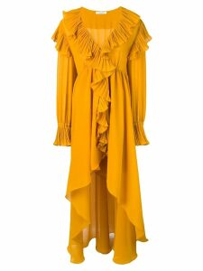 Philosophy Di Lorenzo Serafini ruffle asymmetric dress - Yellow