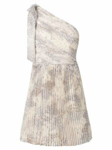 Red Valentino one shoulder pleated dress - Neutrals