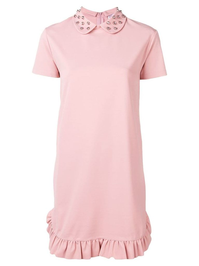 Red Valentino studded T-shirt dress - Pink
