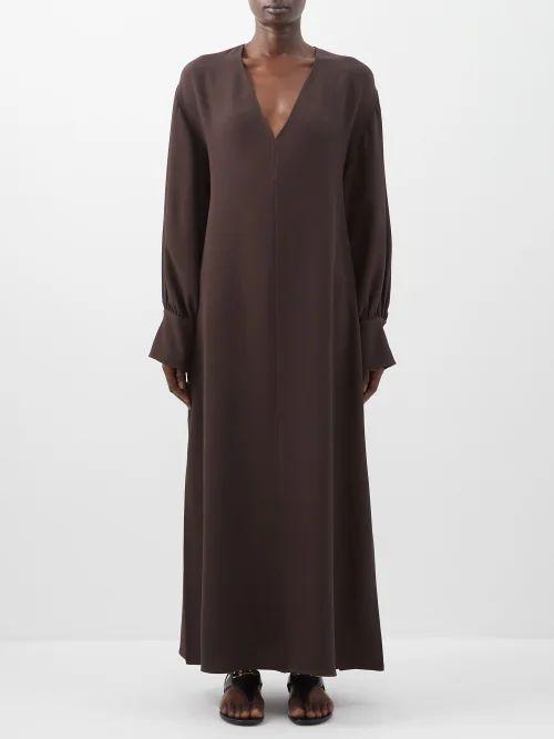 Isabel Marant - Cadzi Oversized V Neck Cashmere Sweater - Womens - Light Grey