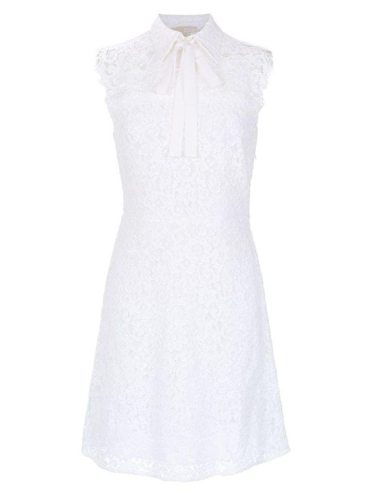 Michael Michael Kors sleeveless floral lace dress - White