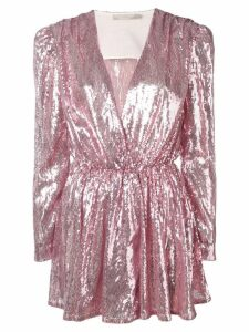 Amen sequinned wrap dress - Pink