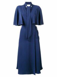 Valentino cape sleeve midi dress - Blue